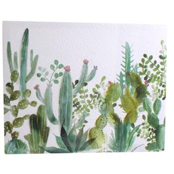 """Toile peinte décor """"Cactus"""" M2 45x35cm"""
