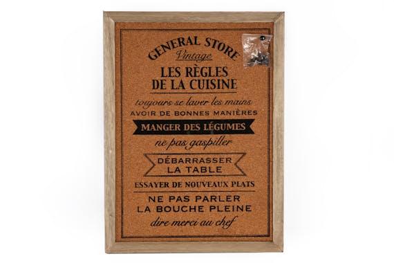 """Plaque décorative """"General Store"""" liège 40x30cm"""