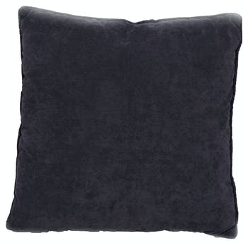 Coussin gris foncé en velours carré 45x45cm