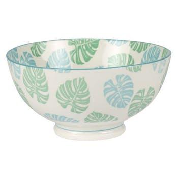 Coupelle porcelaine décorée tropic bleue