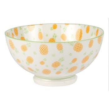 Coupelle porcelaine décorée tropic jaune
