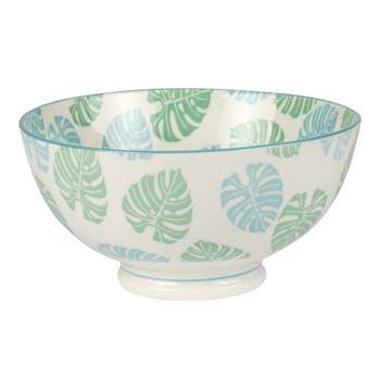 Bol porcelaine décorée tropic bleue