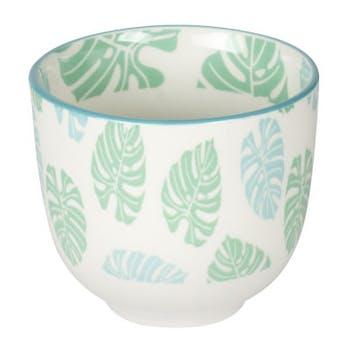 Gobelet 10cl porcelaine décorée tropic bleue
