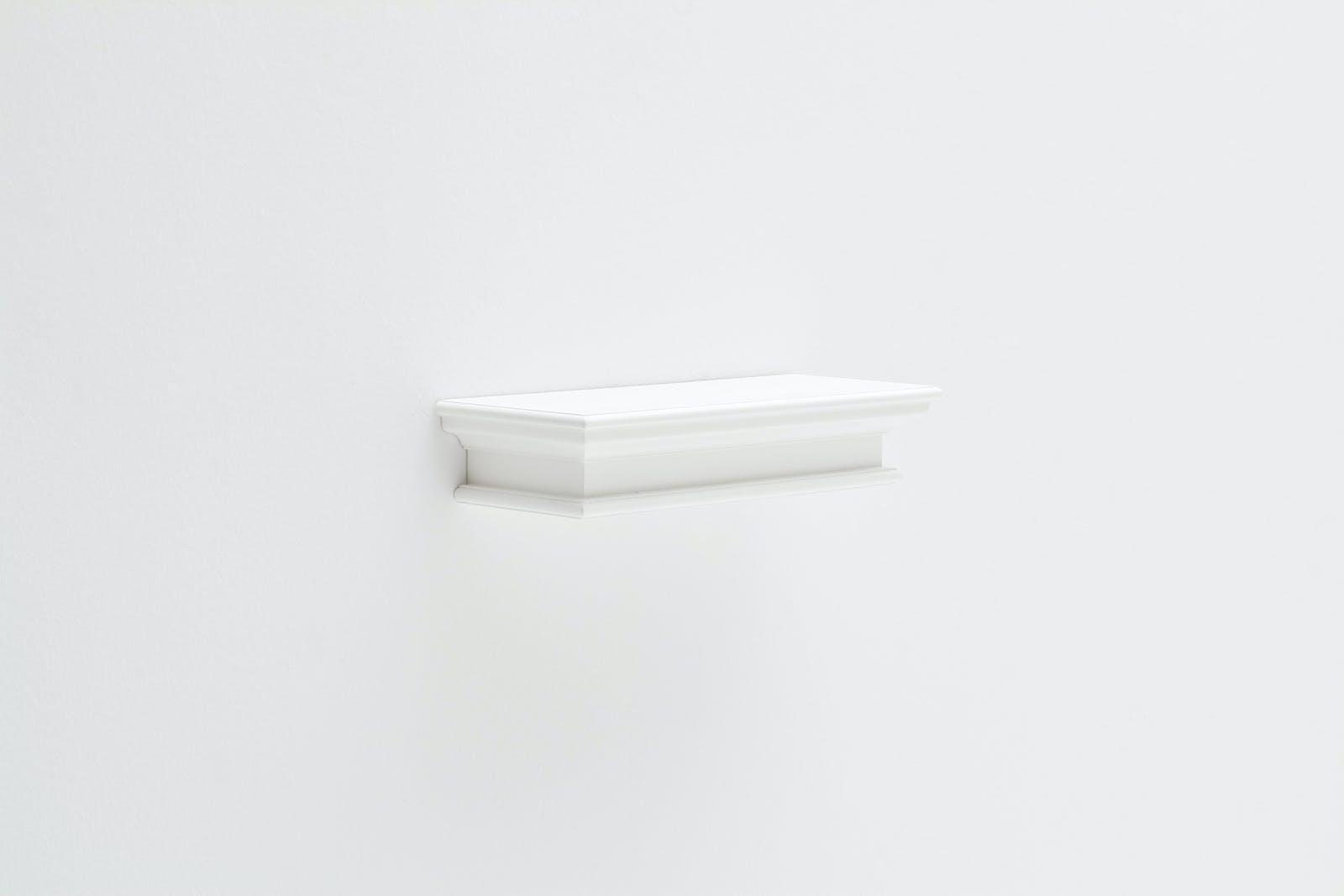 Etagère murale flottante bois blanc ROYAN