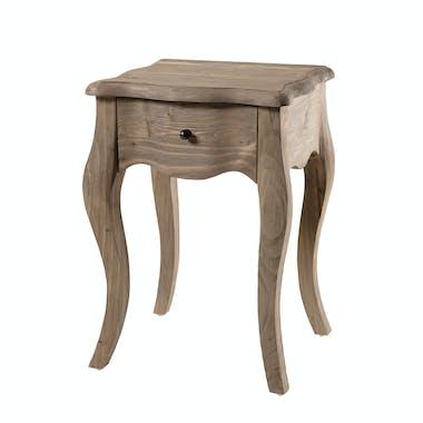 Table de chevet bois recyclé romantique 1 tiroir BRUGES