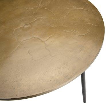 Table basse ronde dorée ZALA