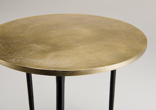 Table d'appoint ronde dorée ZALA