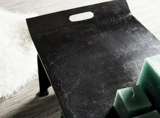 Table basse plateau noir ZALA