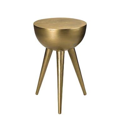 Table d'appoint dorée demi-lune ZALA