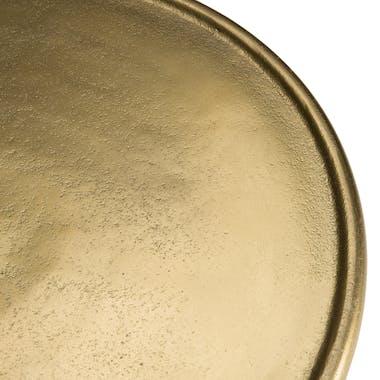 Table d'appoint ronde ajourée dorée ZALA