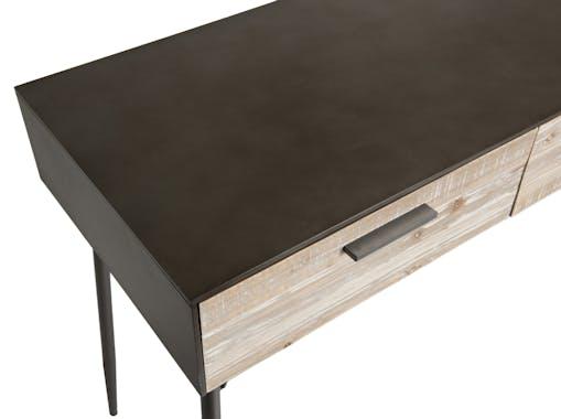 Bureau contemporain bois de sapin 2 tiroirs CARPATES