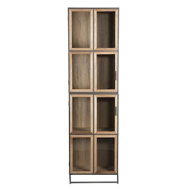Bibliothèque vitrée contemporaine 4 niveaux CARPATES