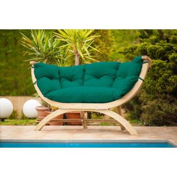 Canapé de jardin 2 places vert SIENA DUE