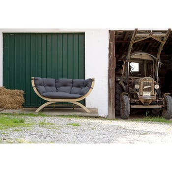Canapé de jardin 2 places gris SIENA DUE