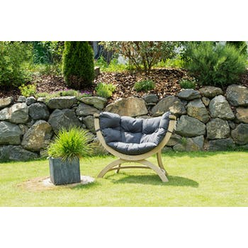 Fauteuil de jardin gris SIENA UNO
