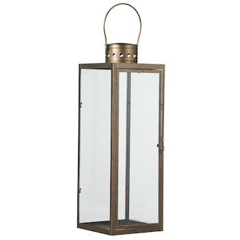 Lanterne dorée H 45 cm