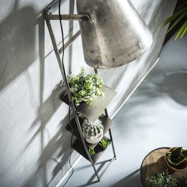 Lampe étagère métal vieilli TRIBECA