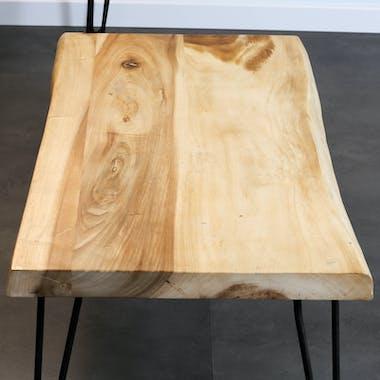 Table basse en bois exotique 110 cm HAWAI