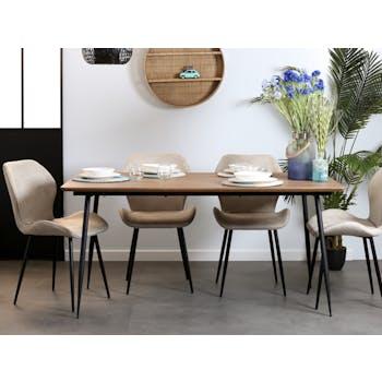 Table à manger 160 bois HELSINKI
