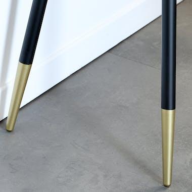 Console ovale en bois pieds épingle ART-DECO