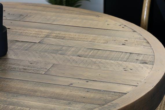 Table à manger ronde bois recyclé D120 BRISBANE
