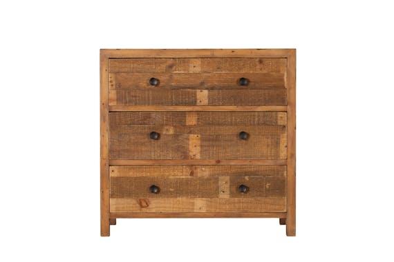 Commode 3 tiroirs bois recyclé BRISBANE