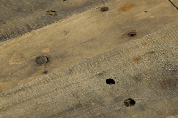 Console bois recyclé 2 tiroirs BRISBANE