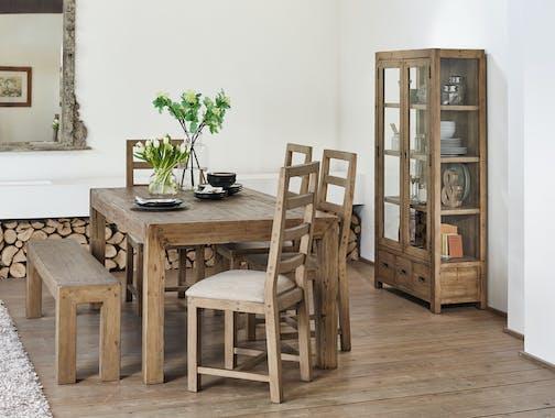 Table à manger extensible bois recyclé 145-185 VANCOUVER