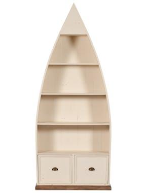 Bibliothèque bois recyclé bateau BRISTOL