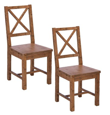 Lot de 2 Chaises bois recyclé BRISBANE