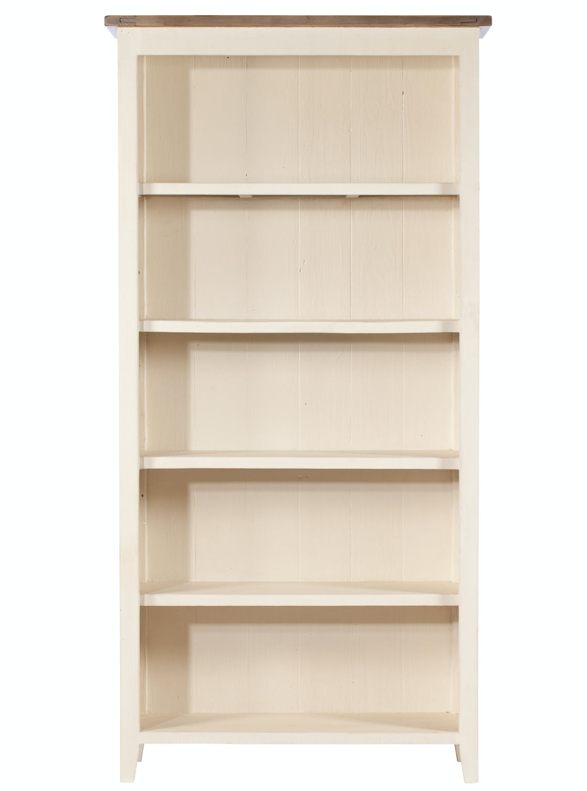 Bibliothèque blanche bois recyclé BRISTOL