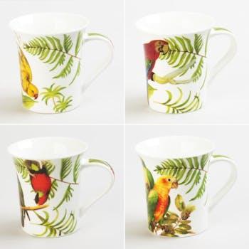 Mug Perroquet Porcelaine 30cl (unité)