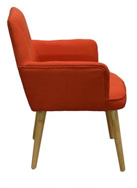 Fauteuil de table scandinave orange OSLO