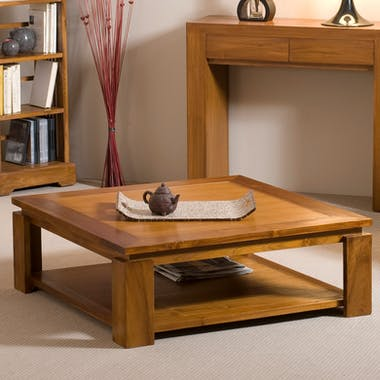 Table basse double plateau 90x90cm BISHO
