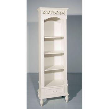 Bibliothèque romantique bois blanc 58x186cm LISE
