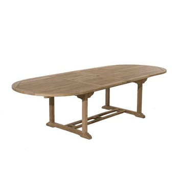 Table de jardin en Teck ovale extensible 200/300x120cm SUMMER