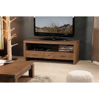 Meuble TV bois exotique LOUNA