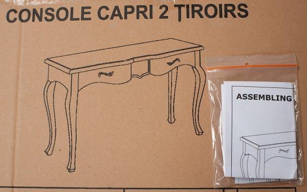 Console 2 tiroirs gris clair 125cm ODYSSEE