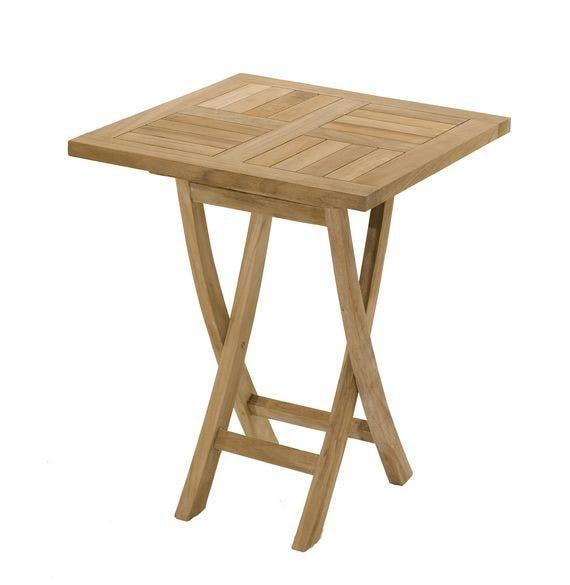 Table de jardin en Teck brut carrée 60cm SUMMER