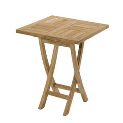 Table de jardin en Teck brut carrée 60cm SUMMER