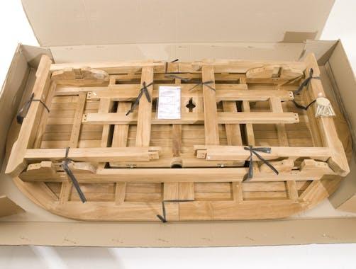 Salon de jardin Teck table ovale 180x100cm 6 chaises SUMMER