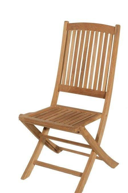 Chaise de jardin en Teck brut pliante 99cm SUMMER