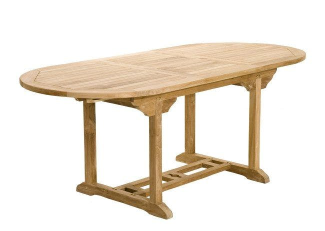 Table de jardin en Teck ovale extensible 150/200X90cm SUMMER
