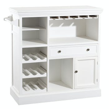 Meuble bar bois blanc ELLA