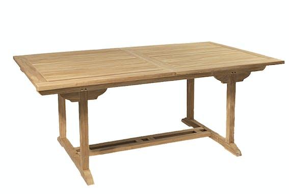Salon de jardin Teck table 180x100cm 6 chaises SUMMER