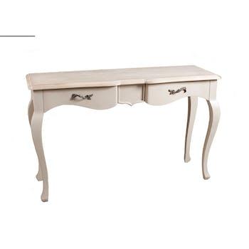 Console 2 tiroirs beige Argile 125cm ODYSSEE