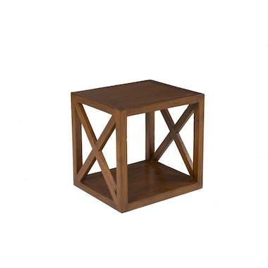 Table d'appoint en bois croisillon 40cm LOLA