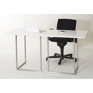 Bureau rectangle design blanc 150 cm THEO