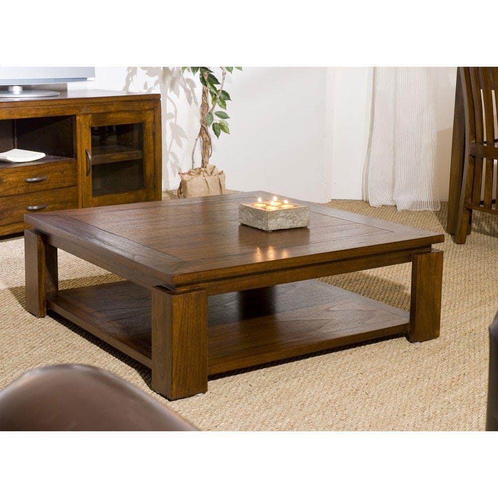 Table basse double plateau 90x90cm LOLA
