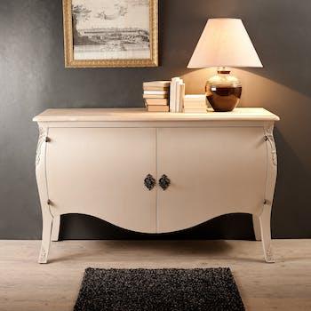 Buffet 2 portes baroque beige Argile 140cm ODYSSEE